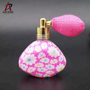 decorative empty colored polymer clay refillable perfume bottle balloon nozzle bottle
