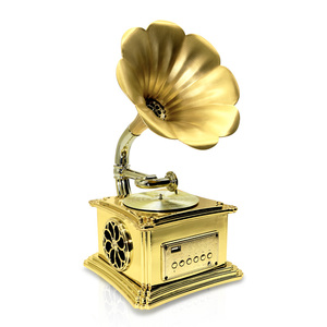Mini Gramophone with AUX wireless U dish player for gift and home furnishing output 5V 2A for digital charging