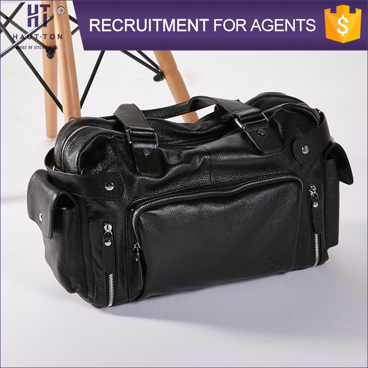 High Capacity Fashion Men Genuine Leather Business Luggage Handbag ...