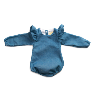 Toddler Clothing For Girl Flutter Denim Clothing Playsuits Baby Longsleeve Rompers
