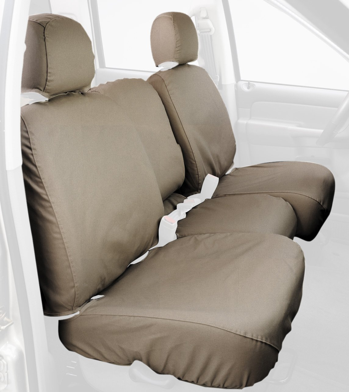 Durafit Seat Covers F396-X1//X7 for 2004-2005 Ford Ranger Pickup 60//40 Split Bench Seat Custom Seat Covers,with Opening Console Black//Gray Automotive Twill