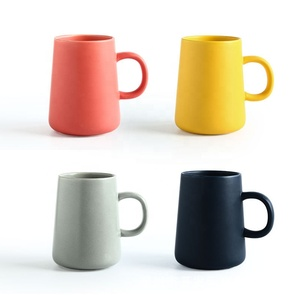 Glaze creative solid color mug ceramic coffee cup home custom Nordic breakfast cup simple cup large capacity