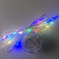 waterproof Ip 65 underwater 2m 20 Leds Led String Battery Operated Micro Mini Lighting Copper Silver Wire