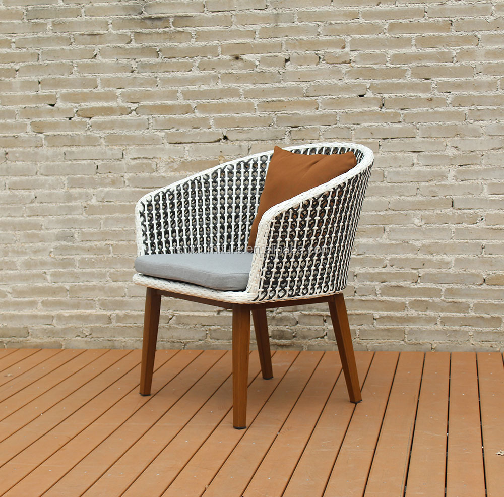 Hot Sell Outdoor PE Rattan Synthetic Coloured Wicker Chairs