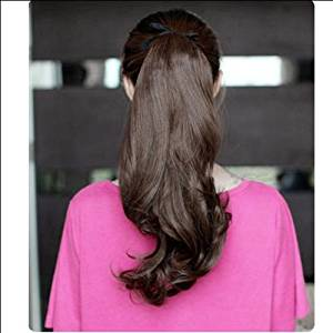 ACE Long Curly Girl Big Wavy Ponytail Wigs Pony Hair Hairpiece Extension