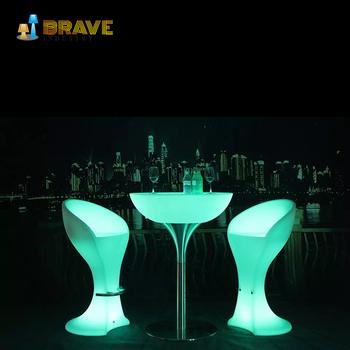 Charming Led Colour Changing Lights Bar Furniture Unique Light Up Table