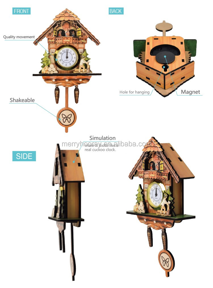 Wooden Cuckoo Clock Kit Low Price Cuckoo Wall Clock View