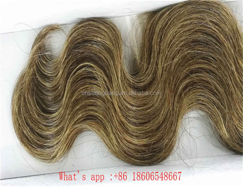 "Promotion! wholeasle brazilian hair weft Body wave 18"" and 22"" brown color 4/27# 8a brazilian body wave hair extension"