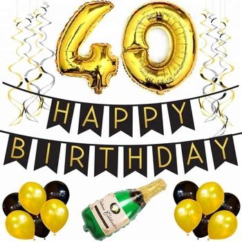 40th Birthday Decorations Set