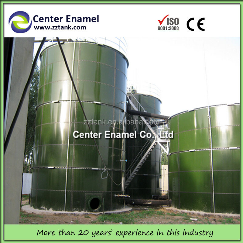 Enamel steel tank applied in wastewater treatment plant