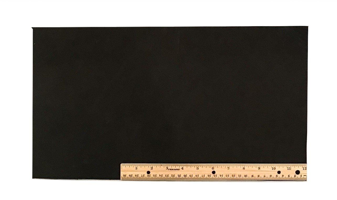 """Scrap Lace Leather Black Cowhide 10"""" X 18"""" Piece #L400"""