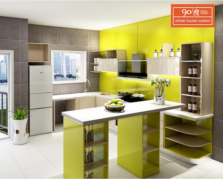 China-lieferantenlack Moderner Küchenschrank Für Kleine Küche - Buy ...