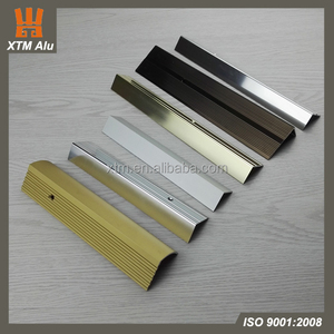 High quality factory made aluminum stair step design metal edge banding/stair nosing