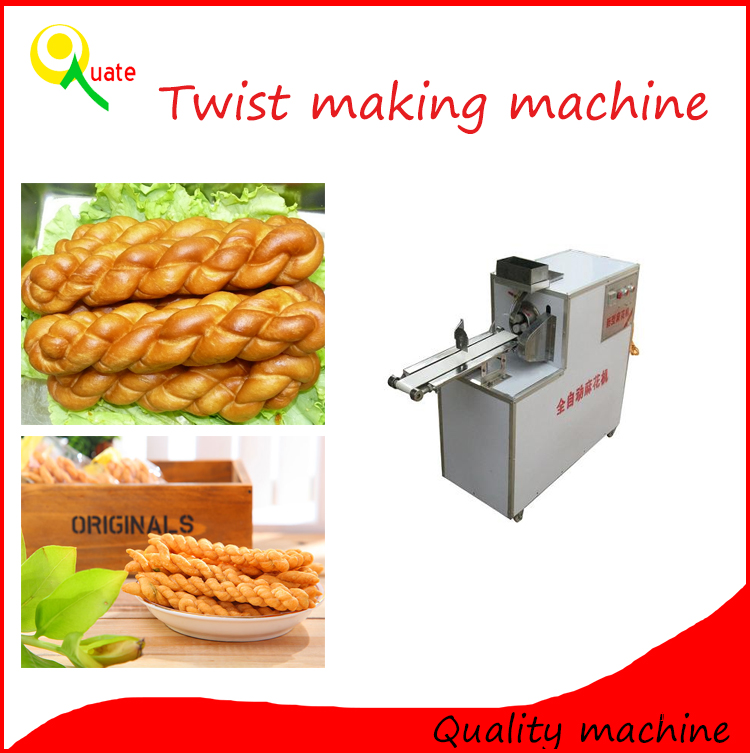 Small snack food making machine/ dough twist frying machine line