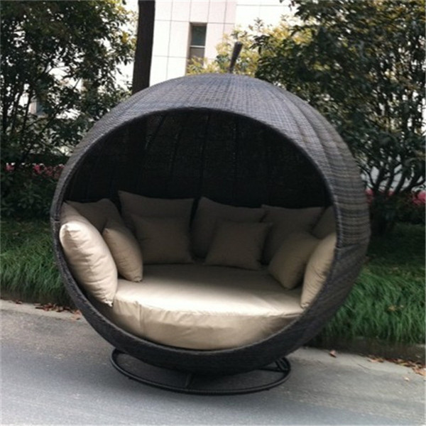 unique apparence pomme de jardin en rotin chaise longue. Black Bedroom Furniture Sets. Home Design Ideas