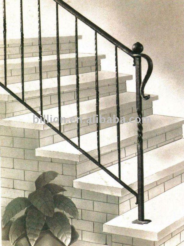 Interior de hierro forjado escalera escaleras rectas - Escaleras de hierro forjado ...