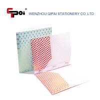 Customize PP 2 Pockets Portfolio For Letter Papaer A4 File Folder with 3 Fastener Clip Folder And Prongs