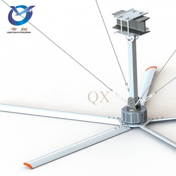 QX New Style Gearless Servo Motor Direct Drive HVLS Ceiling Fan