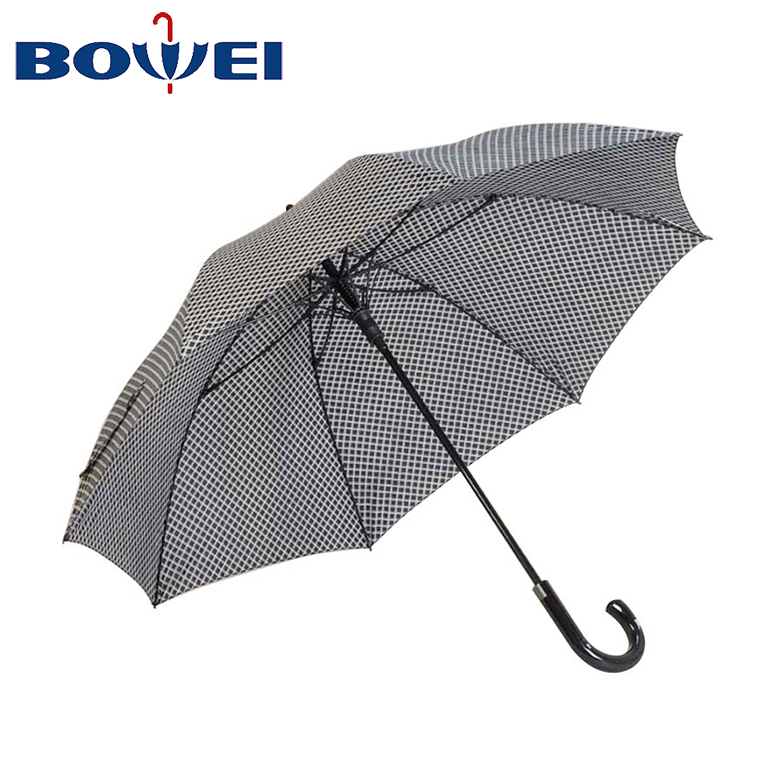 Wholesale cheap auto open windproof grid straight umbrella china