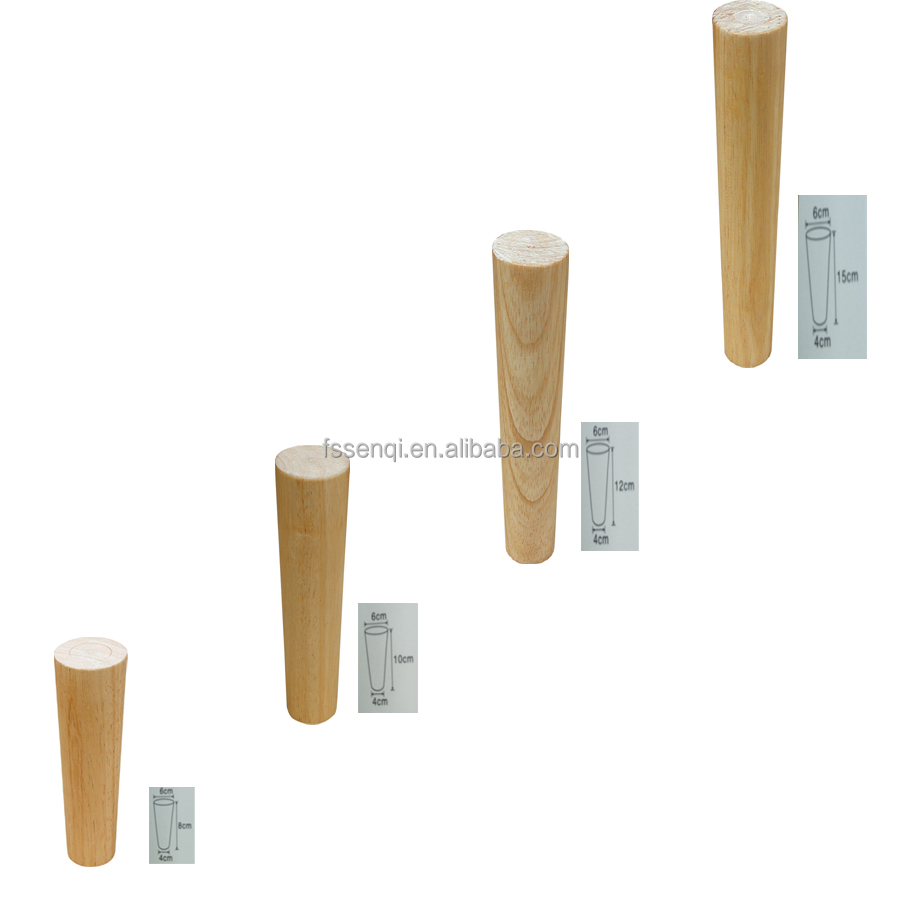 In stock hot wood tapered sofa table legs MJ-1501CX