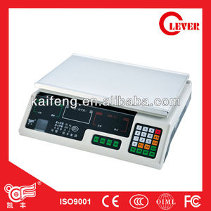 40kg Electronic portable scale ACS-B/C own board Phoenix scales with OIML,CE From Kaifeng