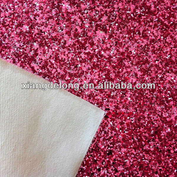 high gloss PU synthetic leather glitter leather for upholstery