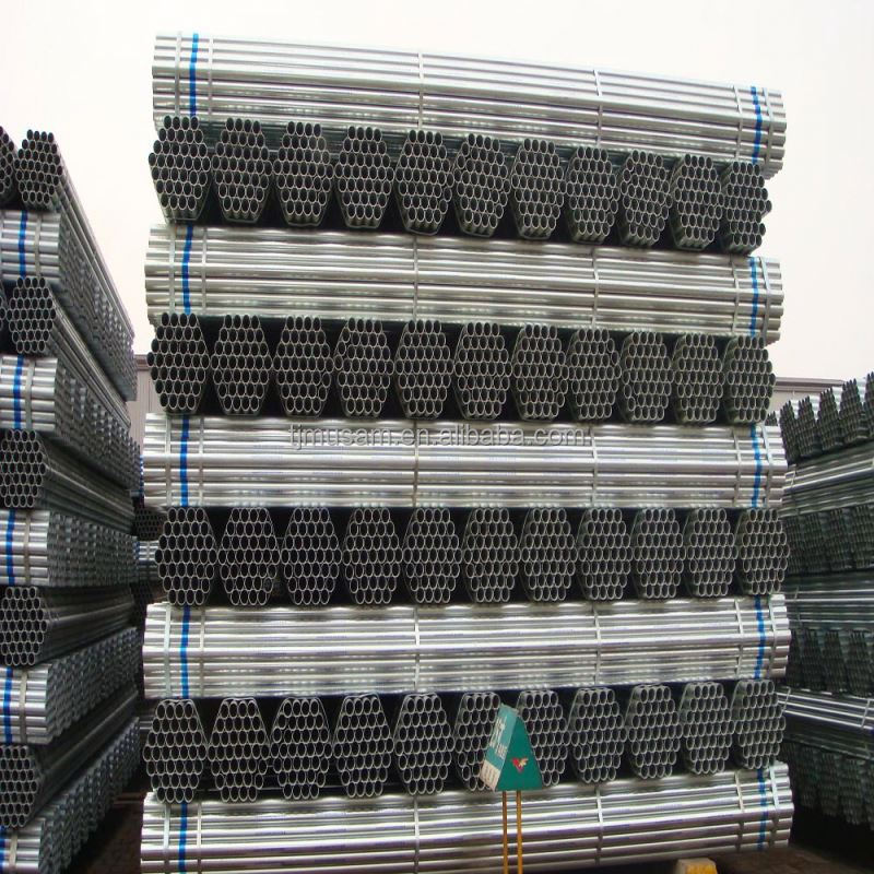 BS1387 ERW Pre-Galvanized Steel Tube(O.D:20mm-219mm)