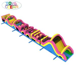 outdoor commercial inflatable obstacle course for kids and adults playing /inflatable sport game for sale