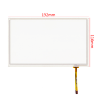 4 Wire 8 Inch Transparent Glass Resistive Touch Screen Panel