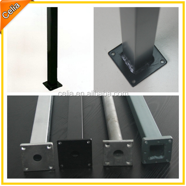 china pro manufacturer powder coat square steel fence posts without concrete installation t for sale