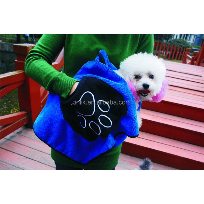 Embroidery Promotional Microfiber High Absorption dog Drying Towel