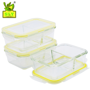 Heat resistant glass food keeper/saver/storage/container set with divider