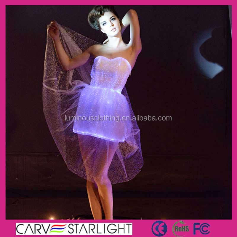 Luz Led Luminoso Occidental Disco Moderno Danza Vestido Para Niñas ...