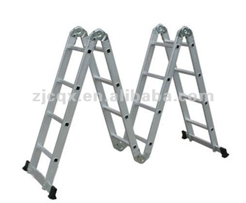 2013 the best price multi purpose aluminium ladder 4X4 with platform EN131