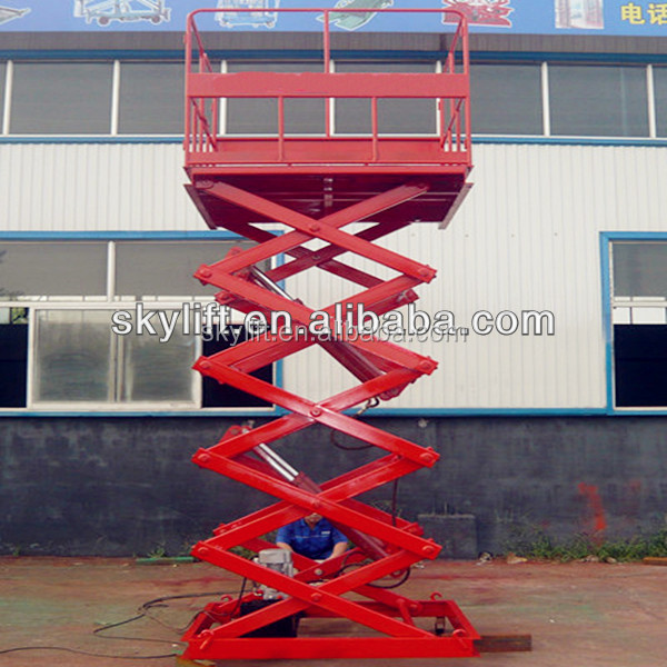 Air hydraulic motorcycle scissor lift table