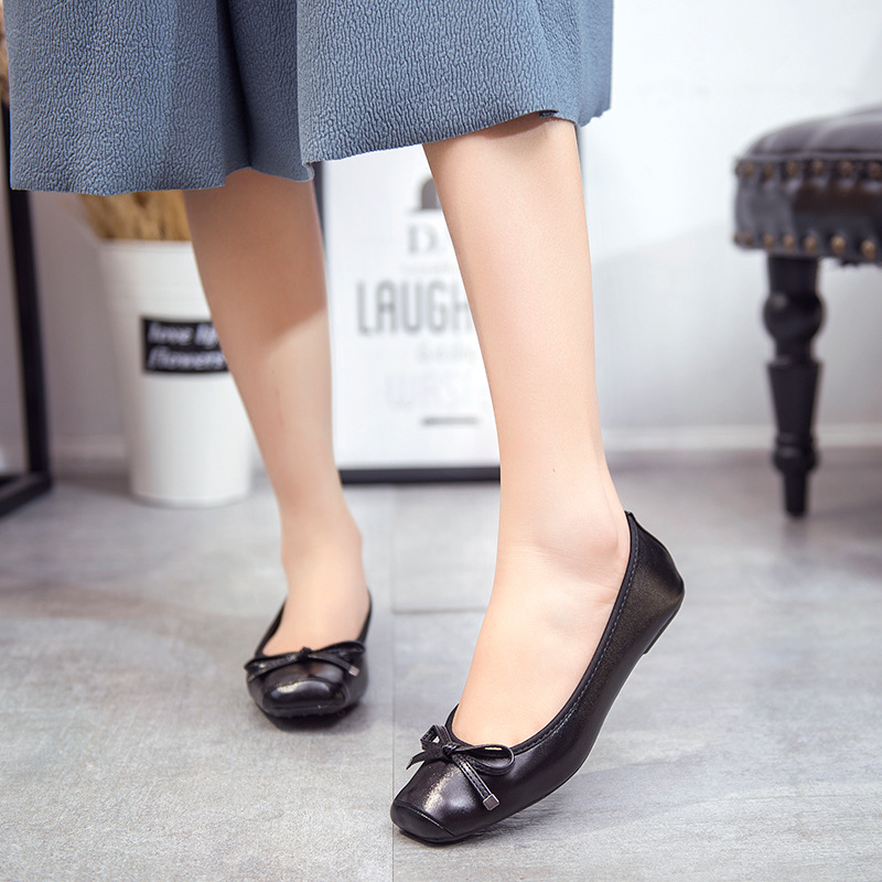 GUGUTREE 35-42# women large size flat casual dress shoes