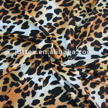 Leopard Print Fabric nylon lycra leopard print fabric for swimwear and sportswear - buy