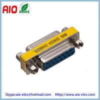 Low Profile Port Saver D-SUB15 Female to Female Mini Gender Changer/Coupler Adaptor Connector