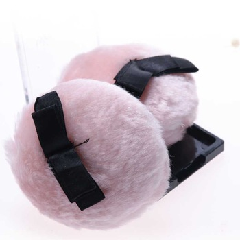 2019 Hot Sale Pink Baby Body Powder Puff Cute Bowknot for Women Face Makeup Puff