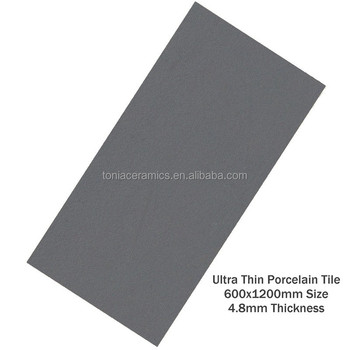 Tonia Ultra Thin Porcelain Tile Homogeneous Floor Tile Charcoal Grey ...