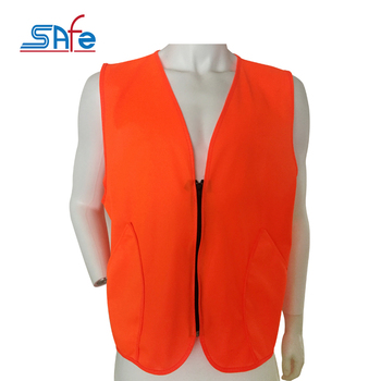 Wholesale high visibility orange hunting safety reflective vest