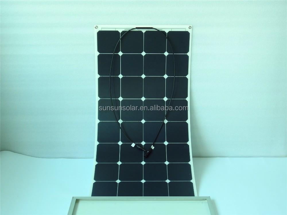 High Efficiency Sunpower Cell Pet Etfe Semi Flexible Solar