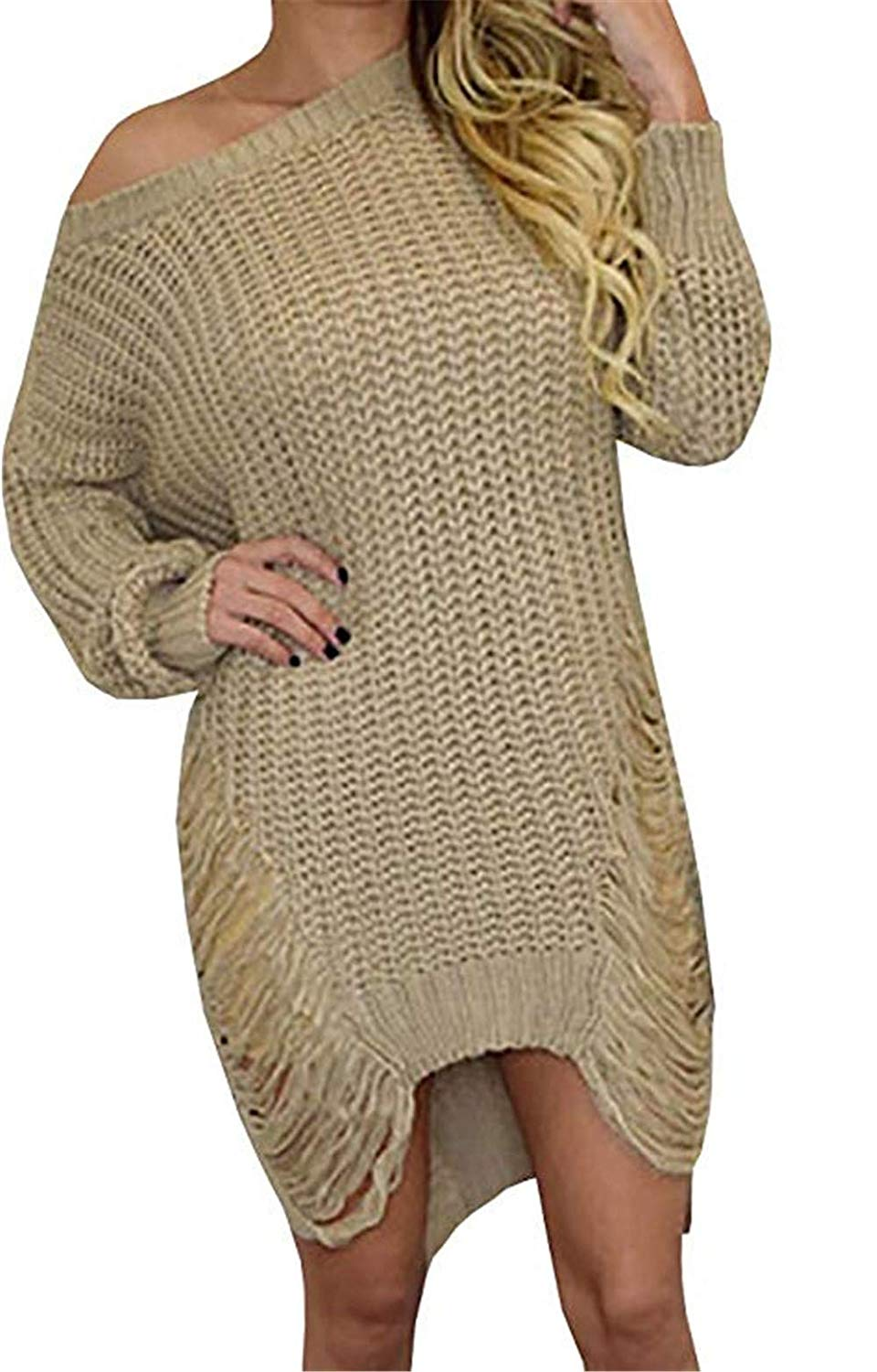 Womens Sweaters Oversized Fall Long Pullover Sweater Sexy Chunky Loose Hollow Out Knit Tops