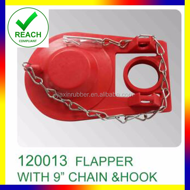 EPDM/ Rubber Anti-deformation Red Toilet Flapper