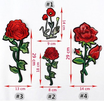 b11630f96f8 Large Rose Flower Patch For Clothes Sew On Patch Applique Embroidery Piece  Of Clothes Decoration Repair