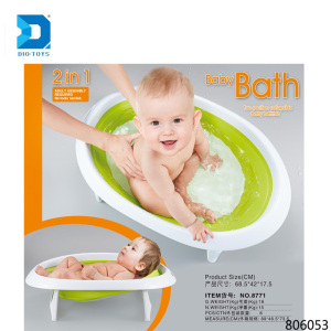 Top new 2 in 1 two position collapsible plastic baby bath tub for baby