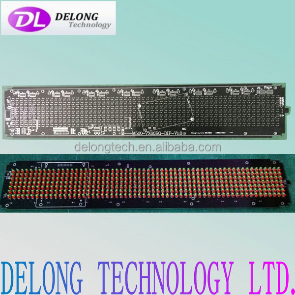 100-240V 7X60pixel semi outdoor red green yellow led signs china