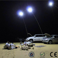 Wholesale LED camping lights 100W Fishing Rod lights led with remote control outdoor lighting for Night Trip