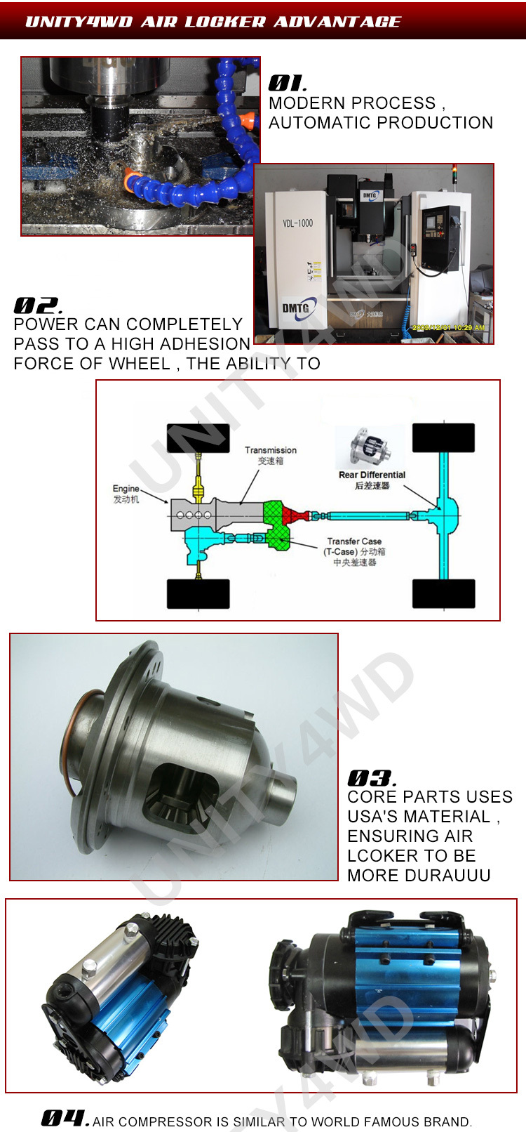 China 4x4 Accessories Complete Kit Of Air Locker For Muss/rexton ...