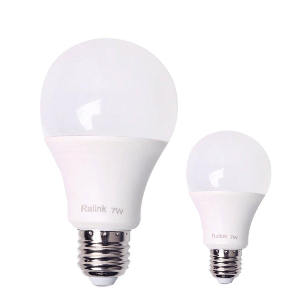 Qshell High Quality LED 7W Bulb Light, 665 Lumen Light Bulbs, 60W Incandescent Bulbs Equivalent,Daylight/Cool White Color, E27 Base LED Bulb Lamp,DC 110V-240V, Medium Screw, 360 Beam Angle- 2PCS/Lot